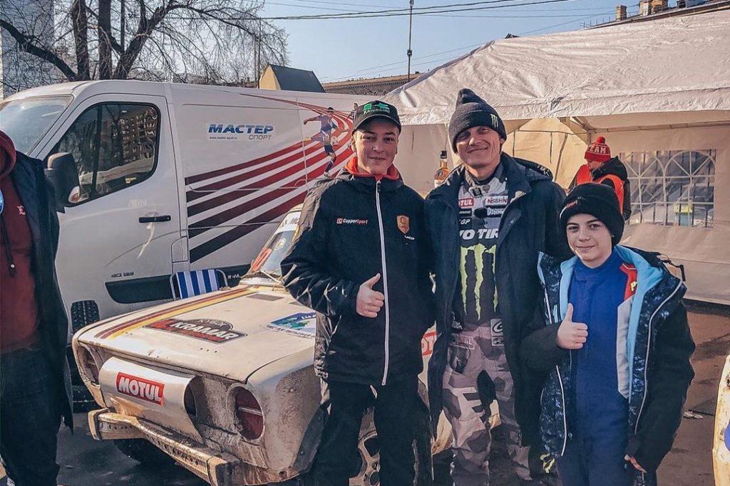 Аркадий Цареградцев после гонки