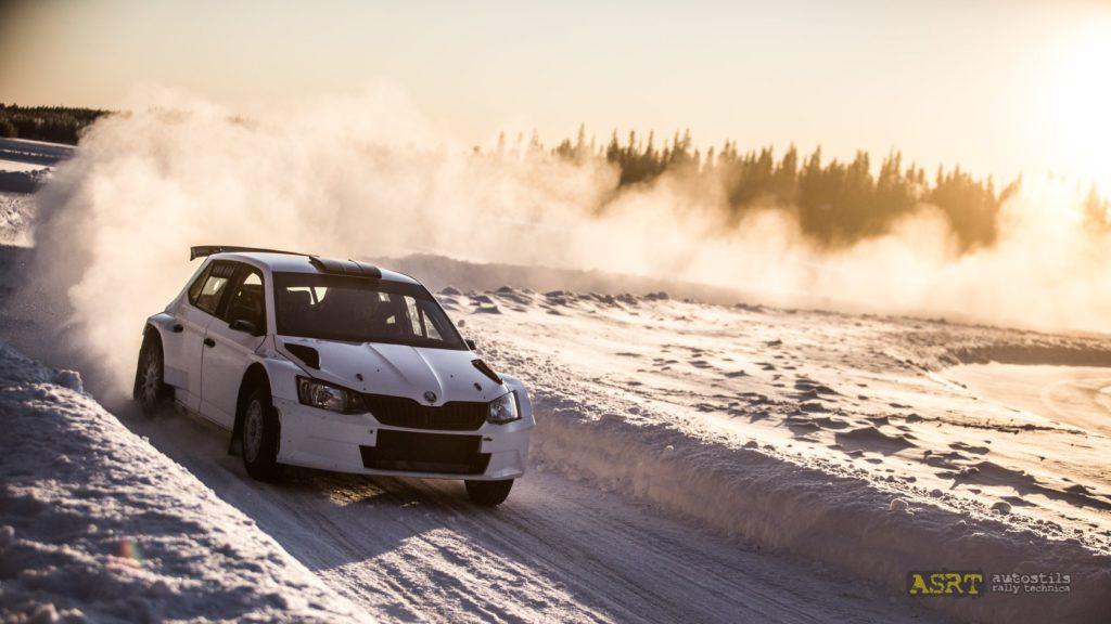 Тренировка ралли на Snow Rally Rings