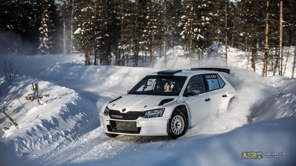 Тесты ралли на Snow Rally Rings